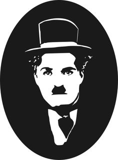 "Vectorised image from publicity photo of Chaplin's 1921 movie ""The Kid""."