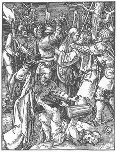 Christ Taken Captive, 1511 by Albrecht Durer. Northern Renaissance. religious painting. British Museum, London, UK