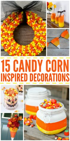 Super cute candy corn decorations to spice up your decor this fall.