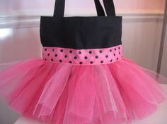 Tutu Dance Bag - LOVE THIS! Want to make these and embroider them to sell!