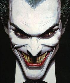 조커 Joker by Alex Ross. Art Du Joker, Le Joker Batman, Joker And Harley Quinn, Joker Cartoon, The Joker, Joker Comic, Black Batman, Comic Book Characters, Comic Character