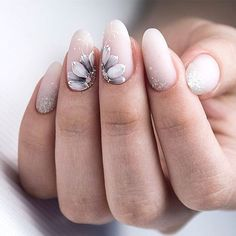White Matte Nails With Flowers Nude nails are trendy. White Matte Nails With Flowers Nude nails are trendy these days. Discover classy and simple nail designs in nude shades. This nail art is the real beauty. Source by glaminati Elegant Nail Designs, Flower Nail Designs, White Nail Designs, Elegant Nails, Beautiful Nail Designs, Nail Art Designs, Nails With Flower Design, Nails Design, Neutral Nails