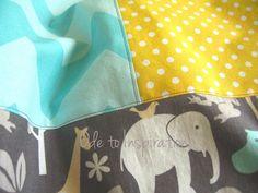 Baby Blanket Tutorial Top Stitch