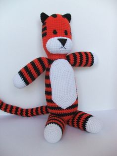 Hobbes Doll Inspired by Calvin and Hobbes by handmadeforluck