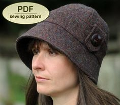 New: Sewing pattern to make the Kettlebaston Cloche Hat - PDF hat pattern INSTANT DOWNLOAD by charliesaunt on Etsy https://www.etsy.com/listing/162770085/new-sewing-pattern-to-make-the