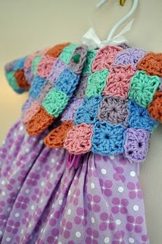 This Little Squares Baby Cardi is being shared atBibliosophy.