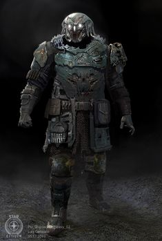I designed this guy a while back and worked with the very talented Matthew Hjellen. Art Director Josh Herman let us work together to really get the best ideas out before jumping in to help with the direction. Apocalyptic Fashion, Star Citizen, Great Team, Sci Fi Fantasy, Horror Art, Dark Art, Marvel Avengers, Batman, Superhero
