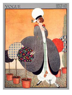 Vogue Cover - February 1914  George Wolfe Plank