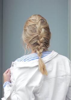 The Steele Maiden: Blonde Bayalage French Braid