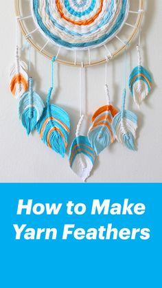 crochet projects for kids boys How to Make Yarn Feathers Crochet Stitches For Beginners, Knitting Stitches, Knitting Yarn, Easy Diy Crafts, Yarn Crafts, Crochet Yarn, Easy Crochet, Macrame Wall Hanging Diy, Diy Scarf