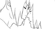 Imagen de kiss, sakura, and sasuke