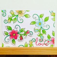 @theverycraftykat their stunning card topper that's ready to mount, coloured in with the Chameleon Pens.