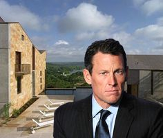 """Lance Armstrong recently bought a modern """"home"""" overlooking Lake Austin in the tony gated community of Rob Roy for $4.34M. It's a five-bedroom compound that sits on 3.6-acre. The 12,500-square-foot compound comprises four separate structures, all designed by local architect Arthur Andersson, and includes a sports court, a home theater, and an art studio.  #celebrityrealestate"""