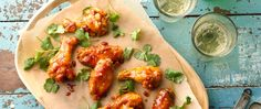 To keep these sticky wings mellow, we used apricot jam, honey and a squeeze of fresh lime, to offset the heat of the Sriracha. Craving more heat? Add more hot sauce!