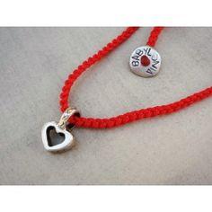 Babylonia popular silver handmade love necklace with symbols