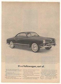 Vintage VW - Kharmann Ghia Ad