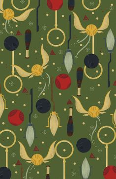 Quidditch Pattern by Daniel Monje, via Behance