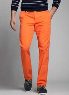 How to work with strong colours for pants