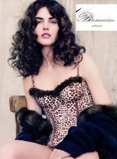 Hilary Rhoda for Blumarine Underwear Pretty Lingerie, Beautiful Lingerie, Hilary Rhoda, Fairy Tales, Curly Hair Styles, Strapless Dress, Underwear, Wonder Woman, Superhero