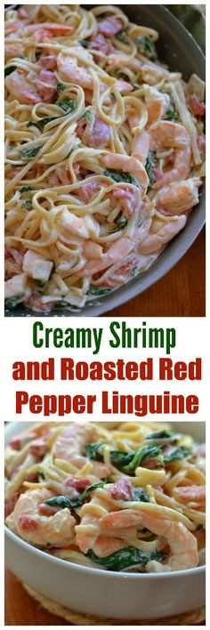 Creamy Shrimp and Roasted Red Pepper Linguine
