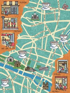 Map of Where to Drink the Best Coffee in Paris - Jane Smith