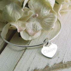 Personalised Silver Bangle £39.00 - Bracelets and Bangles - Sterling Silver Bangles Buy, Engraved Silver Jewellery, Personalised Mens, Womens Gifts, Online, UK