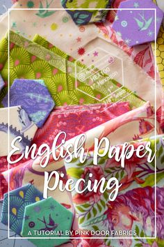 Have you ever wanted to attempt English Paper Piecing and didn't know where to start or how? We're here to help! Keep reading for tips, tricks, and how-to! English Paper Piecing Tutorial for Beginners using Pinkerville by Tula Pink. Quilting For Beginners, Quilting Tutorials, Quilting Projects, Quilting Designs, Quilting Tips, Art Projects, Sewing Projects, Hexagon Quilt Pattern, Paper Pieced Quilt Patterns