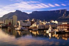 Cape Town. Ship docked near hear.
