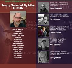 Poetry from the US & Canada selected by Poetry Editor Mike Griffith. Editor, The Selection, Fiction, Poetry, Teacher, Canada, Magazine, Music, Blue