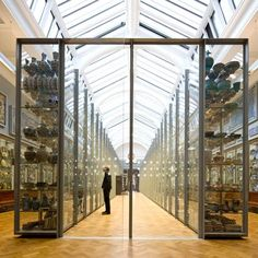 The 'Ceramic Galleries' at the Victoria & Albert Museum (London) were designed as a visible storage showcase as part of the reinstallation of the ceramic galleries phase II. The visible study collection contains 26,000 objects that are displayed with the idea that they are – on demand – available to curators, specialists and the general public.