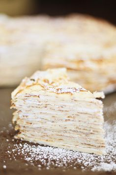 Mille Crepe Cake - stack crepes up, add light filling between layers, top with whip cream. All paleo versions, of course. Recipe is not helpful.