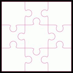 Free jigsaw cut file…perfect for making the girls puzzles using pictures of fa… Puzzle Piece Crafts, Puzzle Pieces, Puzzle Piece Template, Free Jigsaws, Baby Sewing Projects, Scroll Saw Patterns, Stocking Fillers, Cutting Files, Puzzles