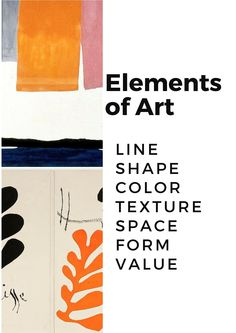 Worksheet to help students to understand and apply important art terms