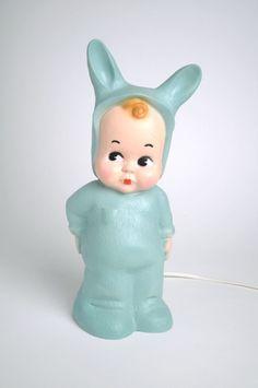 Green Baby Lapin lamp