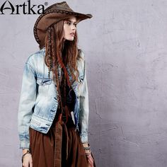 Cheap jacket coat, Buy Quality jacket movie directly from China jacket bike Suppliers: Artka Women's 2015 Autumn Vintage Solid Color Coat With Pocket Long-Sleeved Cotton Comfortable Short Jacket WN14052C