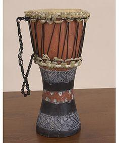 Hand-carved Child's Djembe Drum (Ghana)