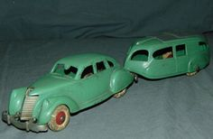 Hubley Lincoln Zephyr and Trailer. Lincoln Zephyr, Toy 2, Old Dolls, Vintage Toys, Auction