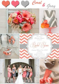 2014 Wedding Color Trends-Coral Wedding Ideas and Invitations