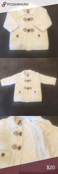 🎉HP🎉NWOT - Baby Mayoral Warm Toggled Sweater New without Tags. Size 2-4 Months. This is one of the most precious sweaters! It has snap closures plus the toggles. It's fully lined, including the sleeves with a super plush and cozy material for extra warmth. Buttoned pockets add even more character! Love this and sad my baby never got to wear it in our hot weather! Baby Mayoral Shirts & Tops Sweaters