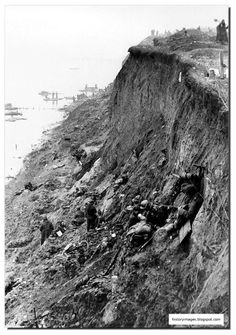 """Last position of Division """"Grossdeutschland"""" on the coast at Cape Peninsula BalgaEast Prussia, in March 1945"""
