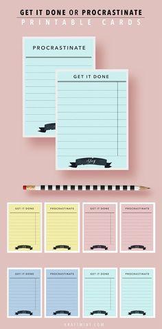 Free Printable To Do Lists - Kraft & Mint Blog