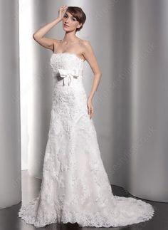 Princess Strapless Lace  Wedding Dress Shop uk