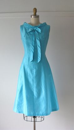 vintage 1960s dress / 60s dress / Blue Dreams by Dronning on Etsy