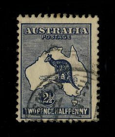 AUSTRALIA -  SG 36b - 2 1/2d DEEP-INDIGO die II Wmk 6 - Fine Used