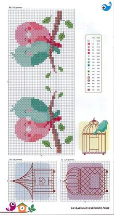 "Ponto d Cruz [ ""This Pin was discovered by Mónica Illescas. Discover (and save!) your own Pins…"", ""Lovie bird heart❤"", ""pasari indragostite pe creanga"", ""for bodice of baby dresses"" ] # # # # # # # # # Cross Stitch For Kids, Cross Stitch Heart, Cross Stitch Borders, Cross Stitch Animals, Cross Stitch Designs, Cross Stitching, Cross Stitch Embroidery, Cross Stitch Patterns, Bird Patterns"