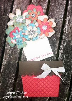 NEWEST DIY MOTHERS DAY  CARDS | ... Cards & DIY: Blinged Out Flower Pot Mother's Day Card Using CTMH