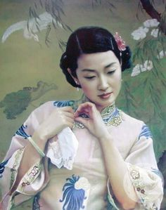chen yifei | Chen Yifei,china artist,oil painting,people oil painting,china art