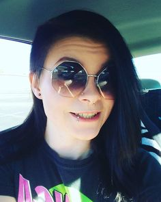 The face you make when you book your first vacation in 7 years, and you get to go to the ocean for the first time in your life!! #happy #smile #excited #vacation #lovetotravel #ready #newplaces #girlswithgreeneyes #sunglasses #girlswithdarkhair #girlswithpiercings #girlswithtattoos #edgy #beauty #smilesformiles #happyhumpday #cantwait
