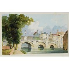Watercolour of Guildford Bridge