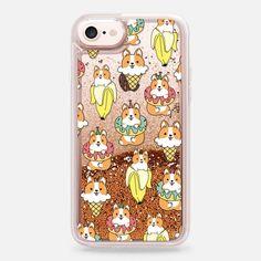 Casetify iPhone 7 Liquid Glitter Case - Foods Corgi by Mint Corner